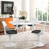 Lippa 54inch Round Wood Top Dining Table with Tripod Base in White