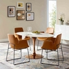 """Lippa 60"""" Oval Dining Table IN Rose White"""