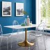 Lippa 60inch Rectangle Dining Table in Gold White