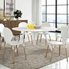 Lippa 60inch Round Artificial Marble Dining Table with Tripod Base in White
