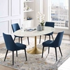 Lippa 78inch Oval Dining Table in Gold White