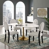 Lippa 78inch Oval Dining Table in Gold White MID-3255