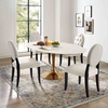 Lippa 78inch Oval Dining Table in Rose White