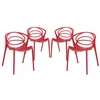Locus Dining Set Set of 4 in Red