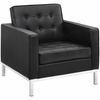 Loft 3 Piece Leather Sofa Loveseat and Armchair Set