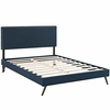Macie Queen Fabric Platform Bed with Round Splayed Legs