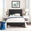 Macie Twin Vinyl Platform Bed with Squared Tapered Legs