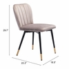 Manchester Dining Chair Gray Set of 2