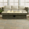 """Manteo 70"""" Rectangular Outdoor Patio Fire Pit Table in Light Gray"""