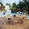 Marina 7 Piece Outdoor Patio Teak Outdoor Dining Set in Natural MID-3280