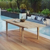 Marina Extendable Outdoor Patio Teak Dining Table in Natural