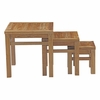 Marina Outdoor Patio Teak Nesting Table in Natural