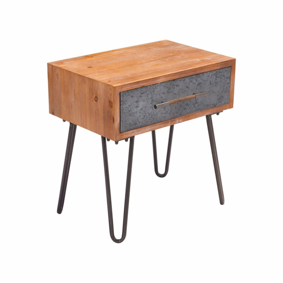 Metal End Table in Antique