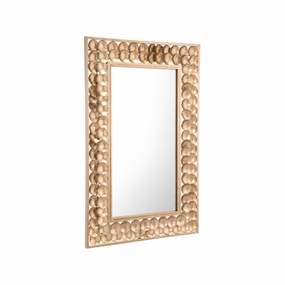 Mini Circles Mirror in Gold