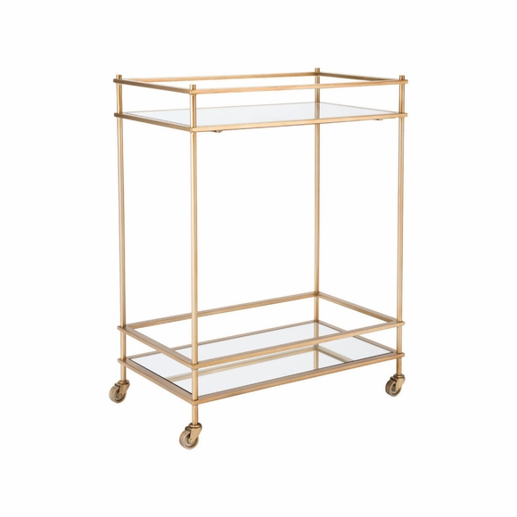 Mirrored Bar Cart in Gold