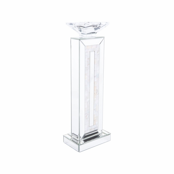 Mirrored Large Candle Holder