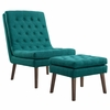 Modify Upholstered Lounge Chair and Ottoman