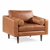Napa Lounge Chair in Cognac Tan