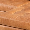 Napa Right Sectional Sofa in Cognac Tan