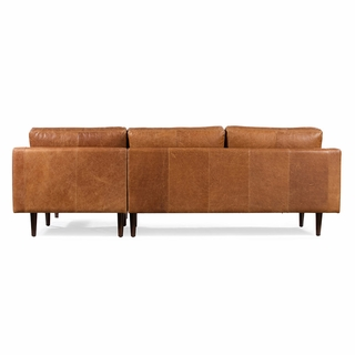 Sensational Napa Right Sectional Sofa In Cognac Tan Modern In Designs Onthecornerstone Fun Painted Chair Ideas Images Onthecornerstoneorg