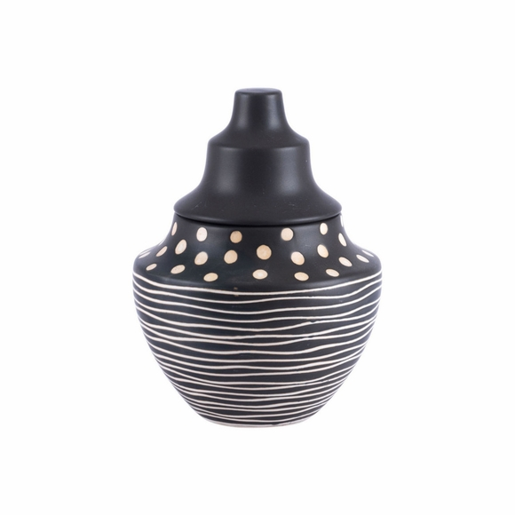 Niger Small Jar in Black & White