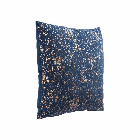 Night Pillow in Blue & Gold