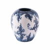 Nube Small Vase in Blue & White