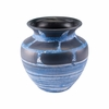 Ocean Short Vase in Blue & White