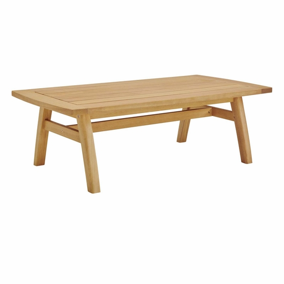Orlean Outdoor Patio Eucalyptus Wood Coffee Table in Natural