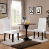 Parcel Dining Side Chair Vinyl Set of 2 in Black