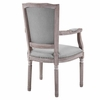 Penchant Dining Armchair Upholstered Fabric Set of 2