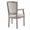 Penchant Dining Armchair Upholstered Fabric Set of 4