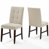 Promulgate Biscuit Tufted Upholstered Fabric Dining Chair Set of 2