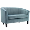 Prospect Channel Tufted Upholstered Velvet Loveseat