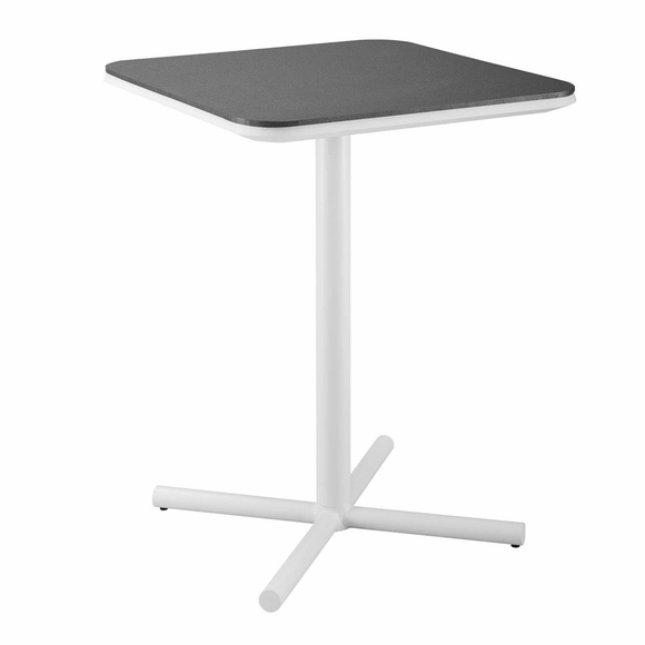 Raleigh Outdoor Patio Aluminum Bar Table in White