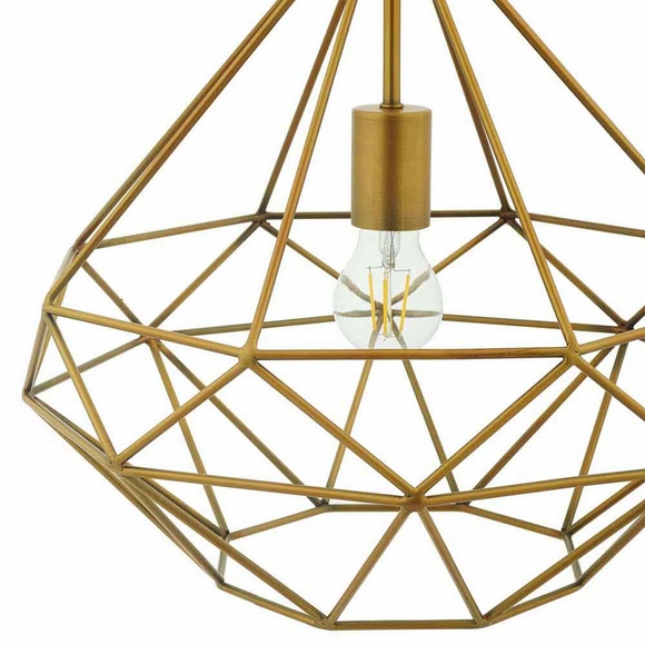 Rarity Diamond-Shaped Brass Pendant Light- Modern In Designs