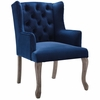 Realm French Vintage Dining Performance Velvet Armchair