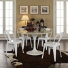 Reception Dining Side Chair Set of 4 in White