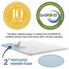 Relax Queen 2inch Gel Memory Foam Mattress Topper
