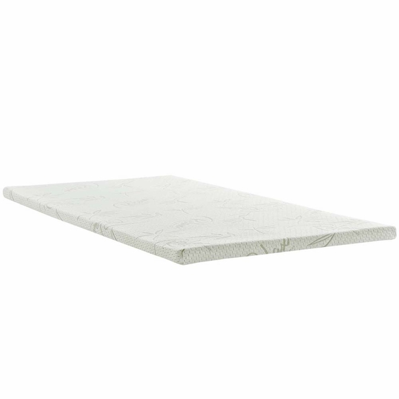 Relax Twin 2inch Gel Memory Foam Mattress Topper
