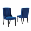 Renew Parsons Performance Velvet Dining Side Chairs - Set of 2