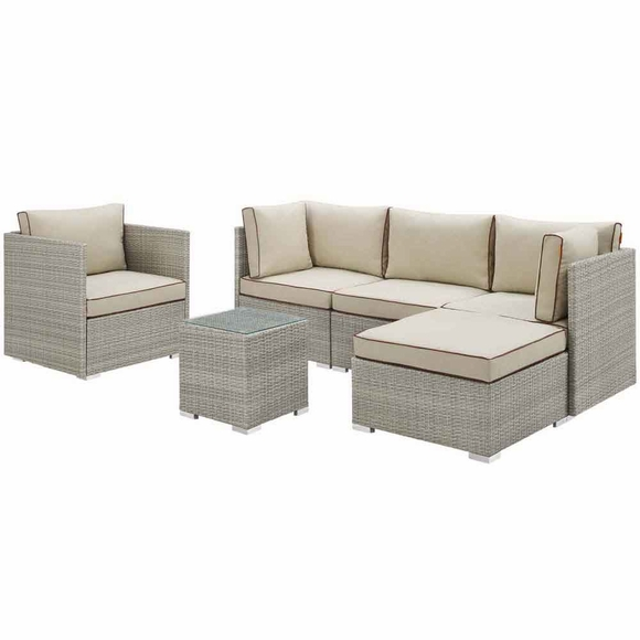 Repose 6 Piece Outdoor Patio Sectional Set MID-3014