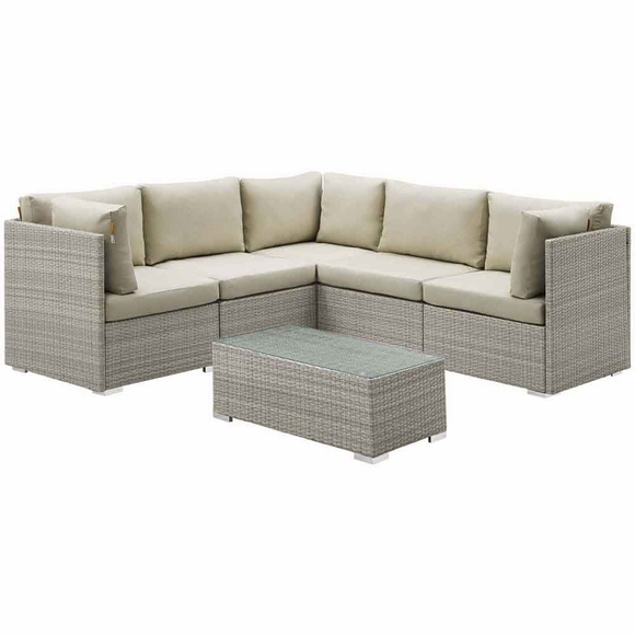 Repose 6 Piece Outdoor Patio Sunbrella Sectional Set