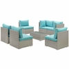 Repose 7 Piece Outdoor Patio Sectional Set MID-3004