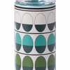 Retro Large Candle Holder in Green & Teal