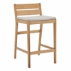 Riverlake Outdoor Patio Ash Wood Bar Stool in Natural Taupe