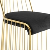 Rivulet Gold Stainless Steel Upholstered Velvet Dining Chair
