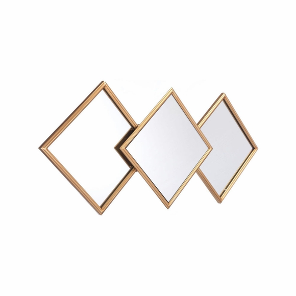 Rombos Mirror in Gold