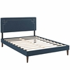 Ruthie Queen Fabric Platform Bed with Squared Tapered Legs