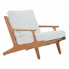 Saratoga Outdoor Patio Teak Armchair in Natural White